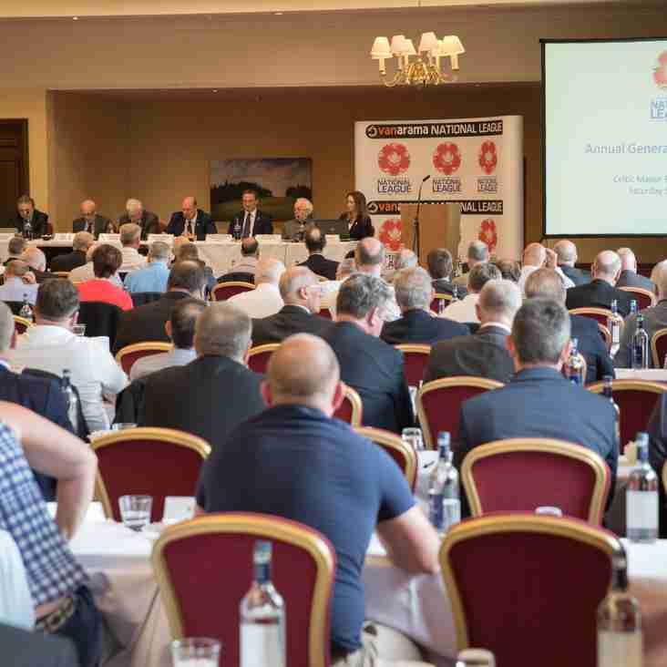 National League Annual General Meeting Headlines