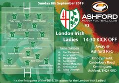London Irish Ladies name their squad ahead of their 1st league game of the season