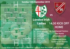 London Irish Ladies face their 2nd League challenge V Streatham & Croydon