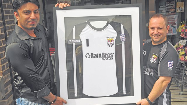 shirt sponsor framed shirt 2014