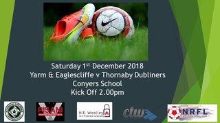 Saturday 1st December 2018
