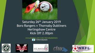 Saturday 26th January 2019
