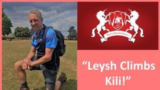 Steve Leyshon Climbing Mount Kilamanjaro
