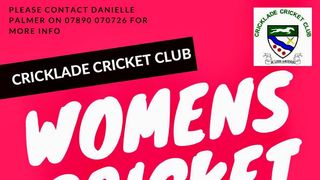 BREAKING NEWS...Women's cricket at Cricklade CC
