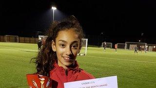 Player of the Month December - U13 Girls