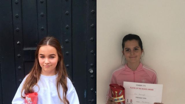 U13 Girls May Players Of the Month