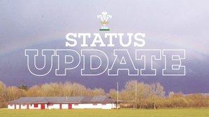 WRU Weekly Status Update 25/3/20/ Diweddariad Statws wythnosol URC 25/3/20