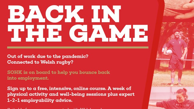 School of Hard Knocks Charity and the WRU launch 'Back in the Game' Free online wellbeing and employability course
