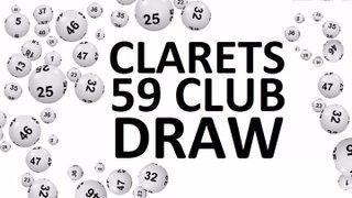 Clarets 59 Club Draw Winners - 05/10/2019 & 12/09/2019