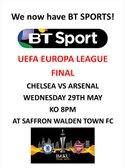 UEFA EUROPA LEAGUE FINAL - CHELSEA VS ARSENAL AT CATONS LANE - 29TH