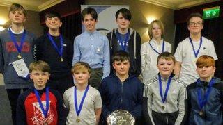 CHC Under 14 Boy's Collect Their Prize