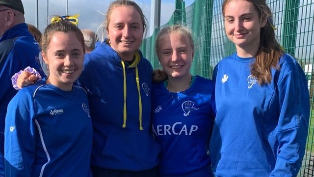 CHC ladies in action with Leinster