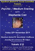 ** SOCIAL EVENT ** - Psychic/Medium Evening with Stephanie Carr - Friday 22nd November
