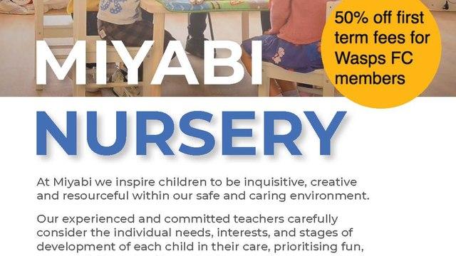 Miyabi Nursery at Wasps FC