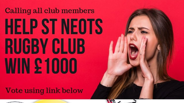 Help St Neots Rugby Club win £1000