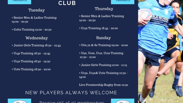 This week at the club...