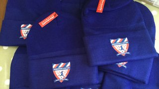 Club winter hats now on sale
