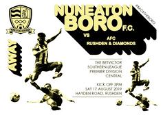 NEXT GAME - AFC Rushden & Diamonds v Boro