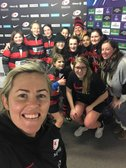 Youth girls meet top female England players