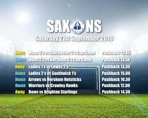 Fixtures Saturday 21st September 2019