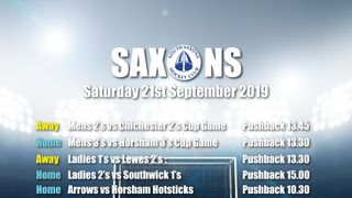 Fixtures Saturday 21st September 2019