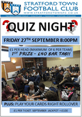 Next Quiz Night at the club Friday 27th September