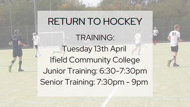 Return To Hockey - Training Dates