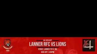 The Lions travel to Lanner, 3pm kick off