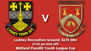 Youth Team fixture update - Lydney Cup Tie Re-arranged