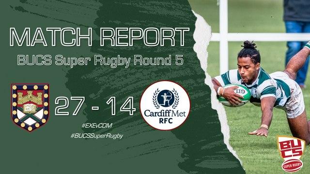 Match Report: Exeter University 27-14 Cardiff Met