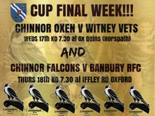Oxfordshire RFU County Cup and Vets Floodlit Cup finals this week