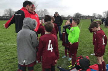 Gav and Baz give the half time pep talk