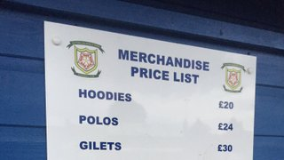 Merchandise Half Price Sale - Saturday 28th September - Dont Miss Out!