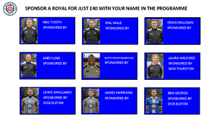 PLAYER AND STAFF SPONSORSHIP 2019/20