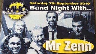 Mr Zenn band night fundraiser