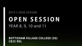 Year 8, 9, 10 & 11 Open Session - Bottisham