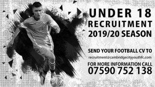 Under 18 Recruitment 2019/20 Season