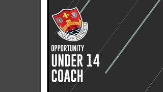 Recruitment of Under 14 Coach