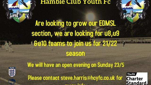 **Hamble looking for new EDMSL teams**