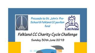 Falkland CC Charity Cycle Challenge 2019 -Registration now open