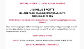 Special Offers To Local Rugby Players
