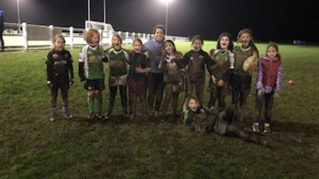 Our Under 11 Girls win the Oracle Contractors & Talenterprize Horsham Rugby Club Team of the Month for December