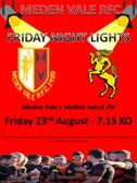 Friday Night Lights - The Vale's Pre-season is finally confimed