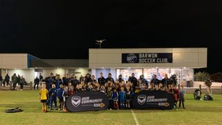 Melbourne Victory Community Coaches visited Barwon last night