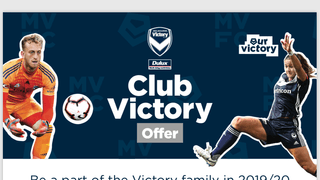 Discounted Melbourne Victory Membership available
