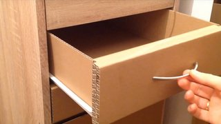 How to Make a Set of Drawers from Cardboard