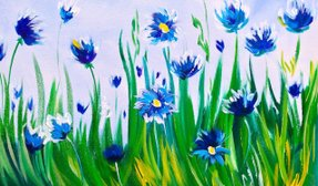 Paint Night Party - Cornflowers