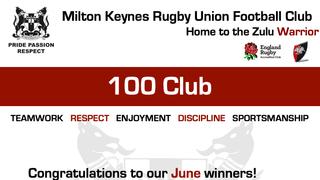 100 Club!  June Winners