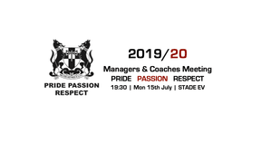 Managers & Coaches Meeting 2019/20