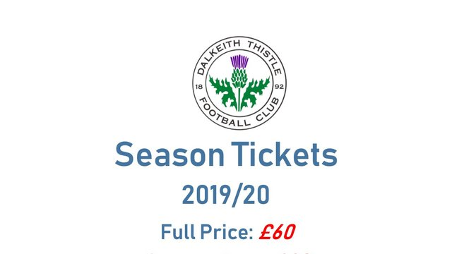 SEASON TICKETS for 2019/20 on sale now